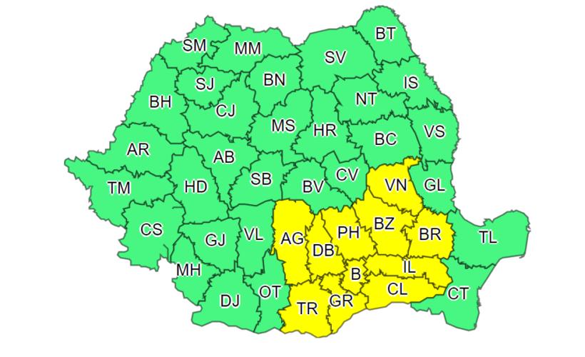 cod galben Bucuresti 22 iulie
